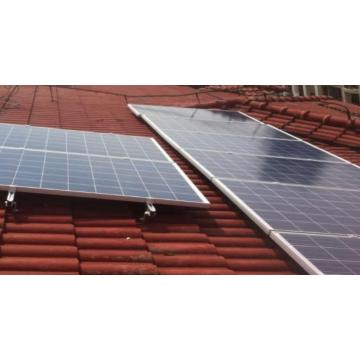 Perfil de alumínio de montagem solar para sistema de telhado de telha
