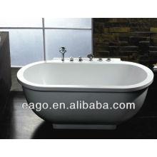 EAGO bañera de hidromasaje Whirpool AM128JDCLZ pie libre