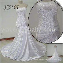 2011 la última gota elegante envío libre estilo libre del meimaid rebordeó el sweethart brillante rebordeó el vestido de boda de la sirena 2011 JJ2427