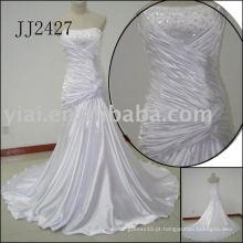 2011 mais recente gota elegante frete livre estilo meimaid frisado sweethart brilhante vestido de casamento de sereia frisada 2011 JJ2427