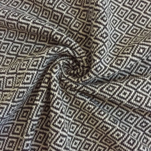 Dimexic square geometry Jacquard cotton knitted fabric