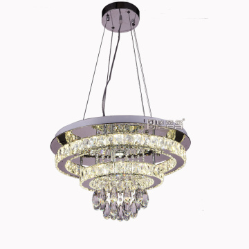 Lampu Chromed Steel Chandelier Compound Dinning