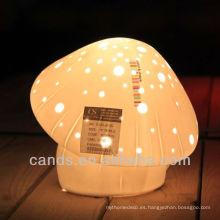 Lámpara de escritorio de hongos de porcelana para niños