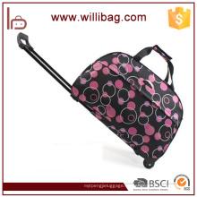 Cajas personalizadas de los bolsos del equipaje de la carretilla del vintage del poliéster