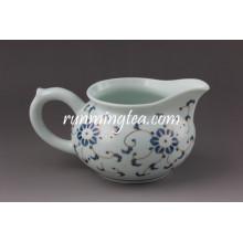 Golden Flower Ceramic Pitcher