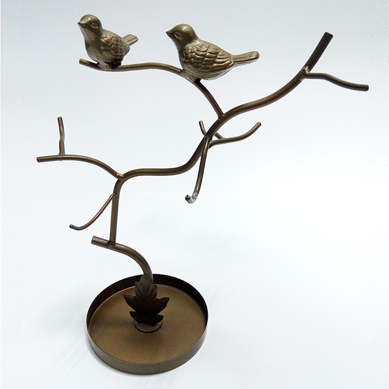 Metal Birds And Tree Sharp Jewelry Rack