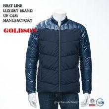 2017 Neue Ankunft kundenspezifische kurze ungedeckte dünne passende Männer beiläufige Winter-unten Jacke