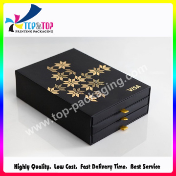 Golden Foil Hot Stamping Drawer Packaging Box for Make up Tools