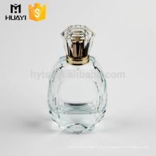 Popular diseño de pulido a mano botella de perfume de cristal 50 ml vacía