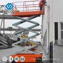 Elevador alto da plataforma de trabalho de quatro rodas, plataforma de funcionamento hidráulica Montada Trailer
