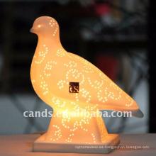 Forma de animal linda lámpara de mesa de cerámica para la decoración