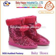sexy winter boots sequins for children