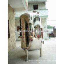 Tanque de agua de acero inoxidable para la planta de purificación de Wate