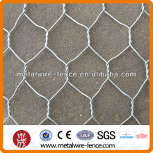 Galvanized gabion for protecting river bank