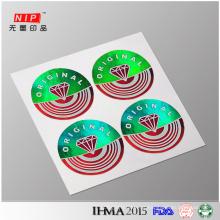 Holograma original redonda proteção etiqueta com holograma promocional