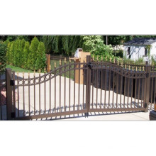 Porte de clôture d'assemblage tubulaire en acier ornemental