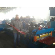 Máquina de moldagem de rolo de folha de telhado de ferro ondulado 2016
