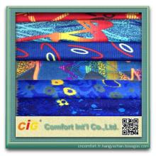 Nouveau style de mode imprimée coloré auto produits textiles voiture fleece tissu