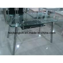 Hochwertige moderne Glas-Esstisch