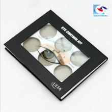 изготовленная на заказ косметическая упаковывая коробка палитра теней для век с окном