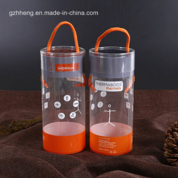 PET clear cylinder tubes with printing ( plastic round box)