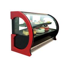 vitrine commerciale d'affichage de verre de gâteau de compteur de 900mm