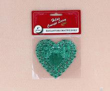 4 inch tim hình dạng màu xanh lá cây lá vải lau tay