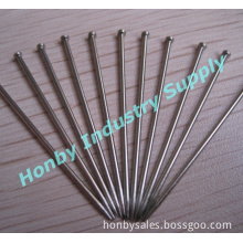 Nickel Plated Steel Straight Bank Office Pin (H0224A)