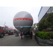 Semi-reboque de tanque de alumínio para transporte de óleo