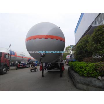 Semi-remorque de réservoir en aluminium pour le transport de pétrole
