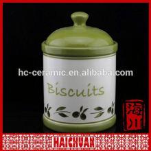 Tarros de especias de cerámica de alta calidad con tapa