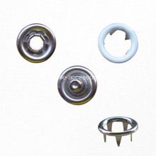 9.5mm Blanco Prong Snap Button 4 Piezas