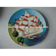 Venta al por mayor de Navidad de promoción personalizada placa de porcelana decorativa con diseño de impresión