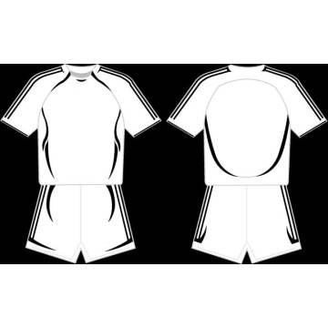 Robe blanche en jersey de baseball à rayures