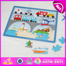 2015 New Fashion Wooden Puzzle Toy, Funny Transportation Design Wooden Toy Puzzle, Promotional Gift Wooden Puzzle Set Toy W14c233