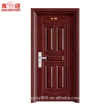 Portes intérieures en acier de haute qualité pour la porte en acier inoxydable de sécurité de maison Chine fournisseur