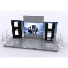 Customized 3-Sides Countertop Black Velvet Card Holder Acrylic Retail Revolving Earring Display