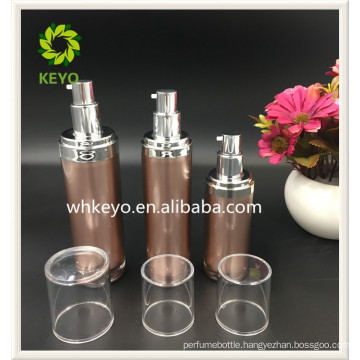 30ml 60ml 80ml Hot sale high quality make up packing colored empty cosmetic acrylic airless pump bottle