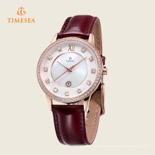 Reloj de cuarzo con marca de acero inoxidable para damas 71130