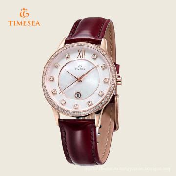 Кварцевые мода из нержавеющей стали часы марки для дам 71130