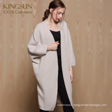 Custom Design Pure Cashmere Women Cardigan Wonderful Knitted Sweater for Winter 2017