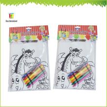 Noncoloring pp nicht gewebte Tasche mit Wachsmalstift