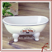 Wholesale White Glaze Porcelain Miniature Victorian Bathtub