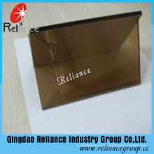 Vidro reflexivo de bronze dourado de 4mm com certificado do Ce