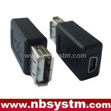 Adaptador USB Un macho a mini 5pin hembra