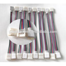 Cable de alambre del conector de 10 PCS 4PIN RGB para 3528 5050 SMD LED Strip Male & Female