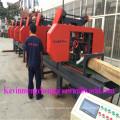 CNC Автоматический деревянный автомат для резки 6 головок горизонтальный ленточнопильный