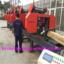 CNC-automatische Holzschneidemaschine 6 Köpfe horizontale Bandsäge