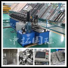 Metal suspended ceiling stud type track roller bearing machine