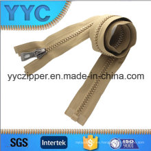 Venta al por mayor Yyc de la cremallera barata plástica larga de la alta calidad